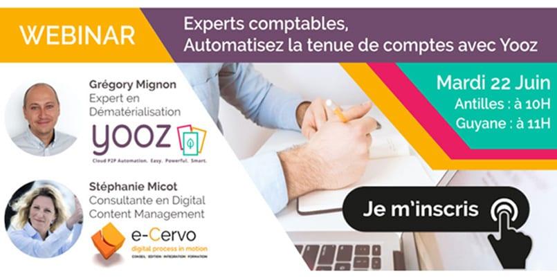 Experts-Comptables, automatisez vos tenues de compte avec e-Cervo et Yooz
